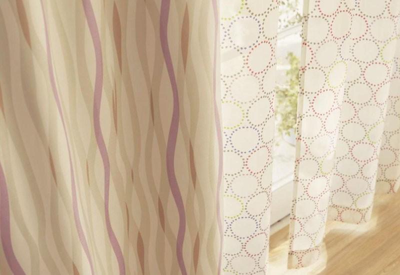 ベルメゾンのカーテンと座布団・座椅子カバー