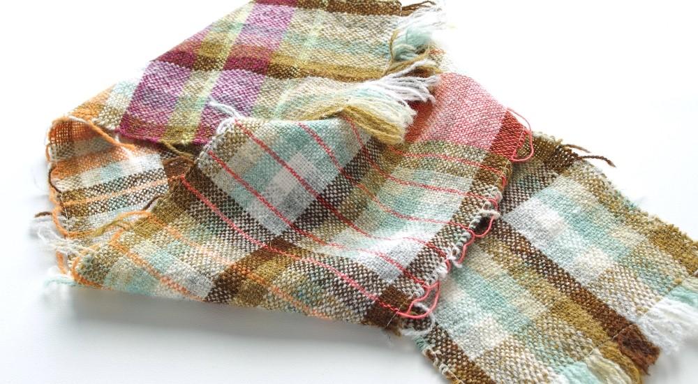 サンプル織り:チェック柄