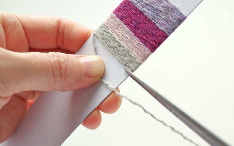 ヤーンラッピングの作り方 最後の糸端処理