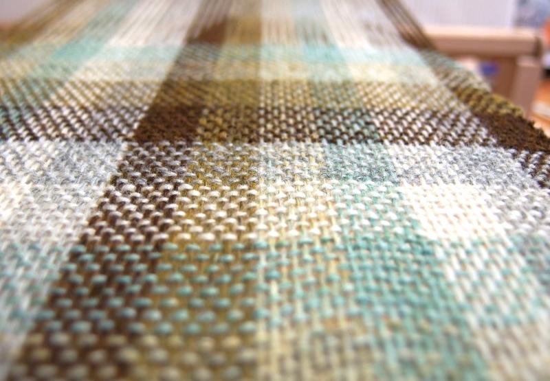 織りサンプルのクローズアップ