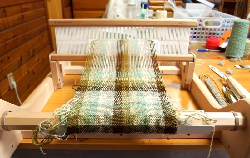 サンプル織り途中