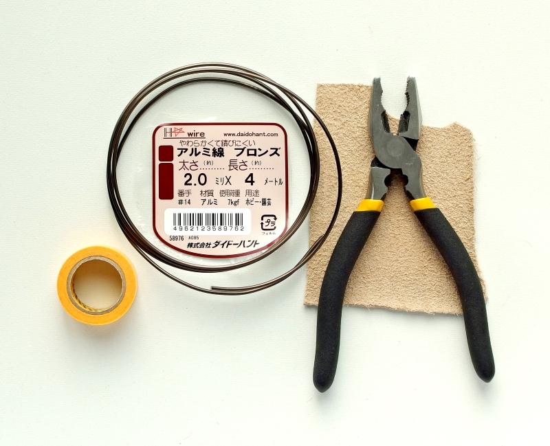 ワイヤーで作る杼 材料