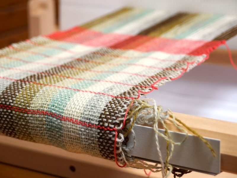 woven fabric on rigid heddle loom