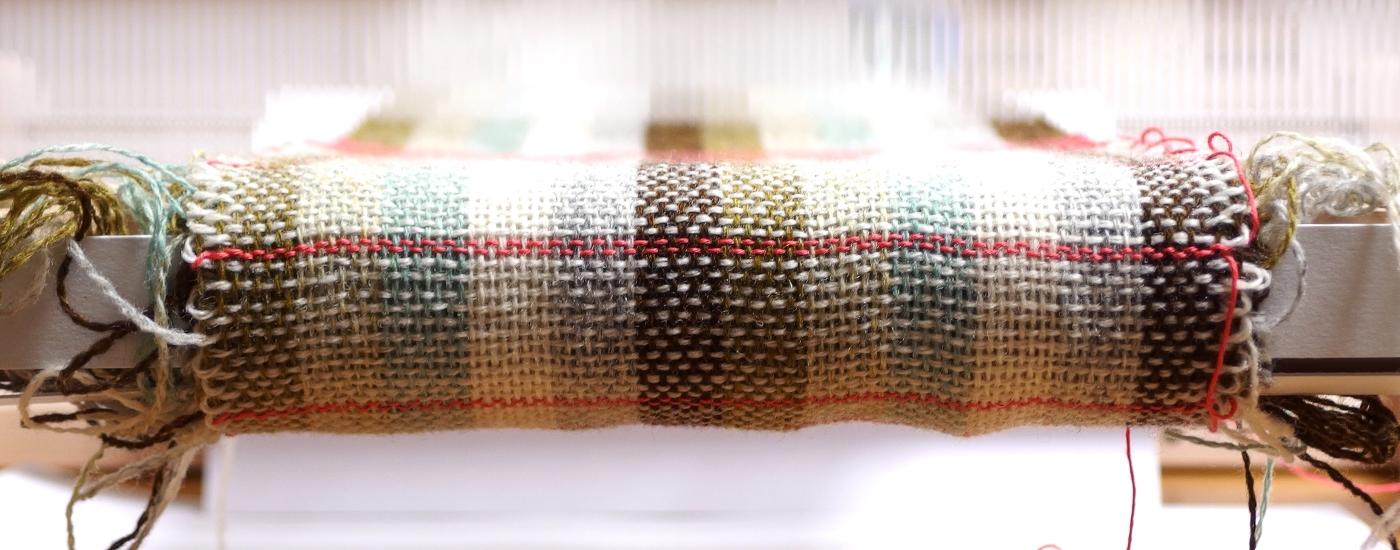 woven wool on rigid heddle loom